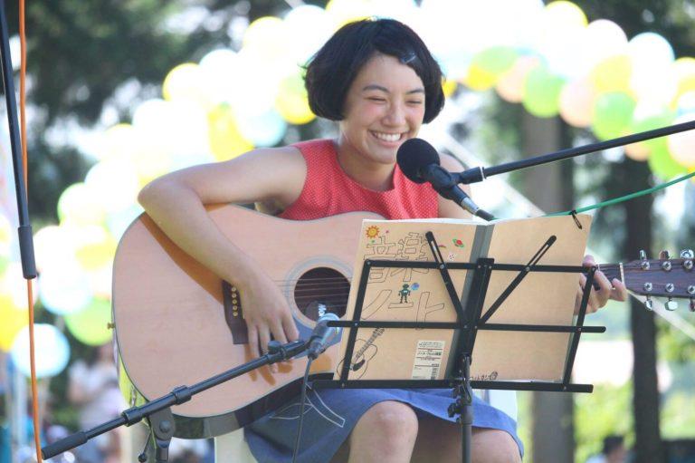 桂公園夏祭りにて、新曲「桂公園に行こう」を披露しました