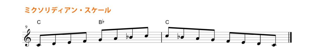 mixolydian scale