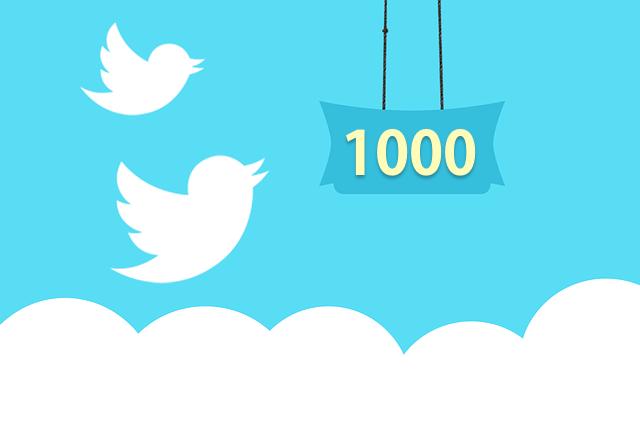フォロワー1,000人ありがとうキャンペーン!