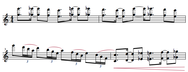ピアノソロ 5〜8小節目 楽譜